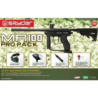 Kingman Spyder MR100 Pro Player's Pack Paintball Marker Kit   Black Marker  Paintball Guns  Sports & Outdoors