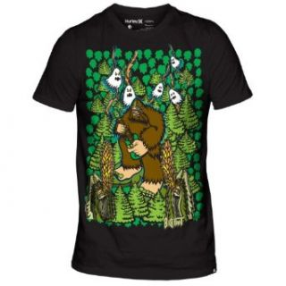 Hurley Mens Band Bigfoot T Shirt (Large, Black) at  Men�s Clothing store