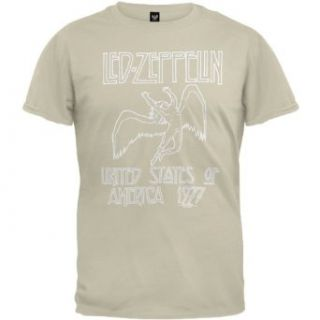 Led Zeppelin   Mens 1977 Beige T shirt X large Off white Clothing