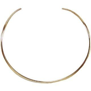 Designer's Flat Circle Choker Necklace 1/Pkg Brass   Furnitureanddecor