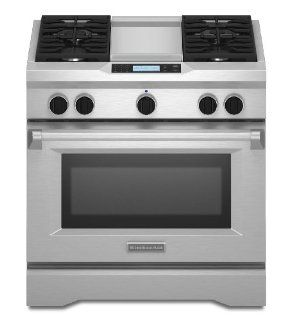 Kitchenaid KDRU763VSS Commercial Style Dual Fuel Range Appliances