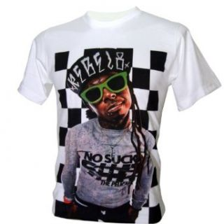 Lectro Men's LIL Wayne Weezy Carter Rapper T Shirt V4 Music Fan T Shirts Clothing