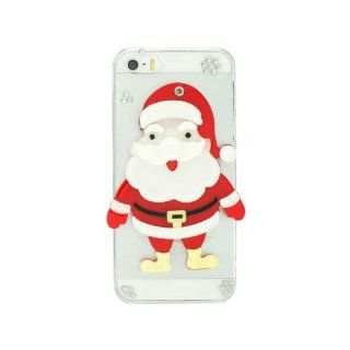iPremium Case� Christmas Series   Cute 3D Full Santa Claus w/ Mirror iPhone 5/5S Case   Handmade DIY   Bling Bling Rhinestones   Perfect Gift (Package includes Extra Crystals & Screen Protector) Cell Phones & Accessories