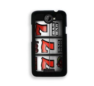 Casino Slot Machine 777   Protective Designer BLACK Case   Fits HTC One X / One X+ Cell Phones & Accessories