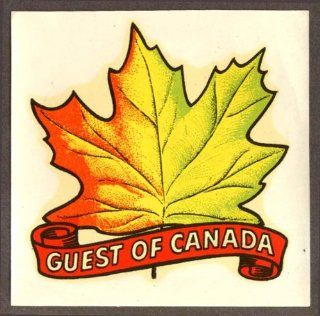 Guest of Canada Maple Leaf car window decal 1950s Entertainment Collectibles