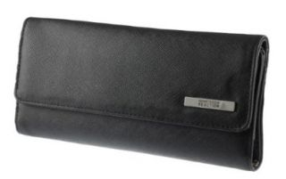 Kenneth Cole Reaction Women's Trifold Elongated Clutch Wallet Style 102527/801 (Black) Shoes