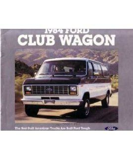 1984 Ford Econoline Club Wagon Sales Brochure Literature Book Piece Specs Automotive