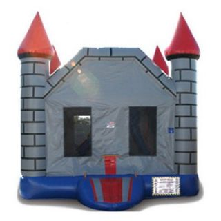 EZ Inflatables Mini Brick Castle Combo Bounce House   Commercial Inflatables