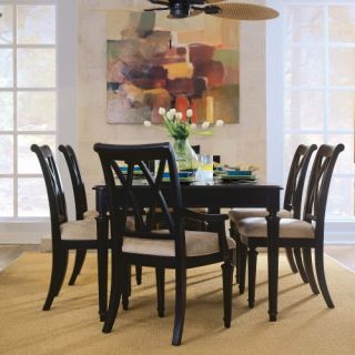 American Drew Camden Splat Back Dining Arm Chairs   Black   Set of 2   Dining Chairs