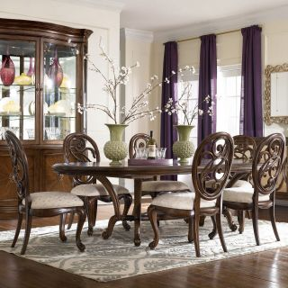 American Drew Jessica McClintock Couture 7 pc. Dining Table Set with Splat Back Chairs   Dining Table Sets