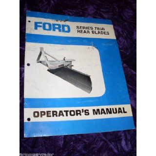 Ford 785B Rear Blades OEM OEM Owners Manual Ford 785B Books