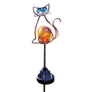 Moonrays Solar Powered Color Changing LED Cat Stake Light   Solar Lights