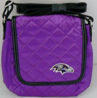 NFL Officially Licensed Baltimore Ravens Quilted Purse  Sports Fan Bags  Sports & Outdoors