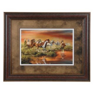 Running Horses Framed Wall Art   40W x 32H in.   Framed Wall Art