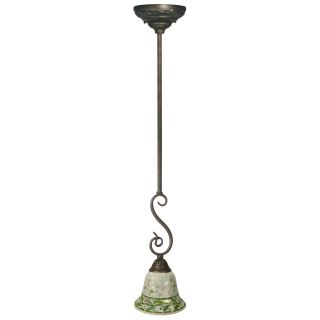 Dale Tiffany Green Mosaic Pendant Light   35.5H in. Bronze   Tiffany Ceiling Lighting