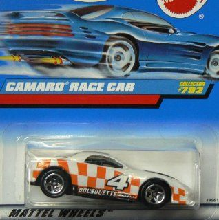 Mattel Hot Wheels 1998 164 Scale Orange & White Camaro Race Car Die Cast Car Collector #792 Toys & Games