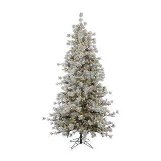 Anchorage Pine Flocked Pre Lit LED Christmas Tree   Christmas Trees