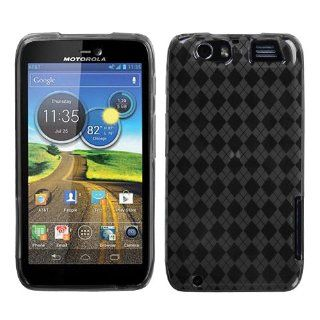 MYBAT Smoke Argyle Pane Candy Skin Cover for MOTOROLA MB886 (ATRIX HD) Cell Phones & Accessories