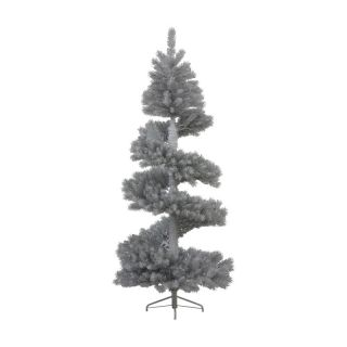 7 ft. Silver White Spiral Christmas Tree   Christmas Trees
