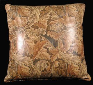 "William Morris Design Arts and Crafts Style 16""x16"" Leather Pillow   Throw Pillows"