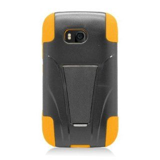 For Nokia Lumia 822 Atlas Hybrid Case Yellow Black with Y Shape Stand Cell Phones & Accessories