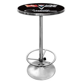 Trademark Corvette C2 Chrome Pub Table   Pub Tables