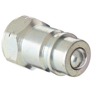 "Dixon Valve AG4F4 Steel Agricultural Push Pull Ball Valve Hydraulic Fitting, Nipple, 1/2"" Coupling x 1/2""   14 NPTF Female Thread Quick Connect Hose Fittings"