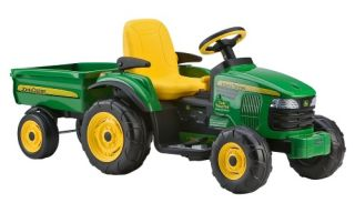 Peg Perego John Deere Turf Tractor & Trailer Battery Powered Riding Toy   Battery Powered Riding Toys