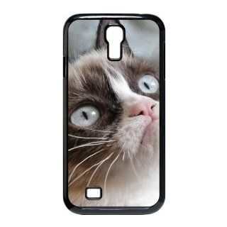 Custom Grumpy Cat Cover Case for Samsung Galaxy S4 I9500 S4 802 Cell Phones & Accessories