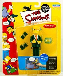 Playmates   The Simpsons   World of Springfield Interactive Figures   Series 1   Montgomery Burns figure w/custom accessories Toys & Games