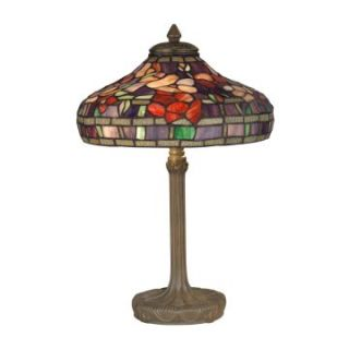 Dale Tiffany Peony Tiffany Replica Purple Table Lamp   Table Lamps