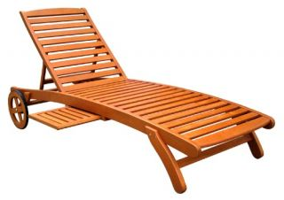 Royal Tahiti Wooden Multi Position Chaise Lounge   Outdoor Chaise Lounges