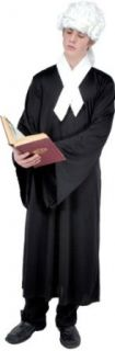 Adult Colonial Lawyer Halloween Costume (Size X Large 44 46) Clothing