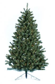 7.5 ft. Norway Pine Half Christmas Tree with Metal Base   Christmas Trees