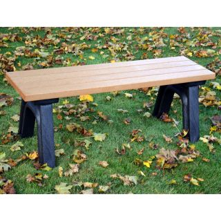 Deluxe 4 ft. Commercial Grade Backless Bench   Outdoor Benches