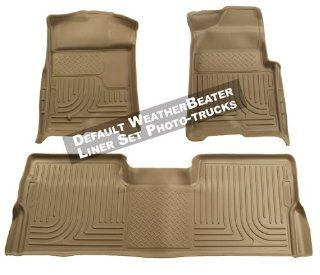Husky Liners Custom Fit Front and Second Seat Floor Liner Set for Select Ford Mustang Models (Tan) Automotive