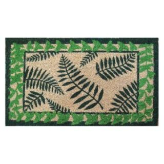 Ferns 18 x 30 Hand Woven Coir Doormat   Outdoor Doormats