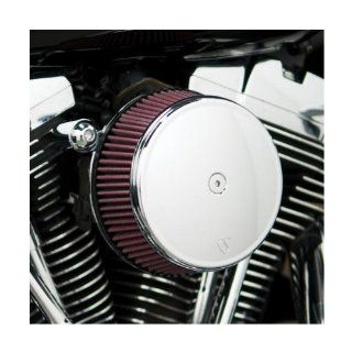 Arlen Ness Billet Sucker Stage I Air Filter Kit with Billet Cover   Smooth Chrome   Red Filter 18 808 Automotive