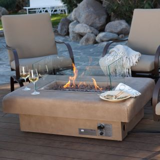 Palazetto 48 in. Gas Fire Table   Sand   Fire Pits