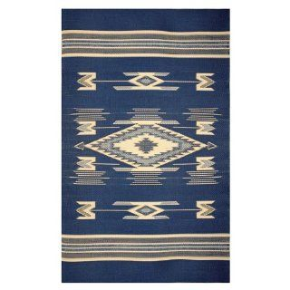 Mad Mats Recycled Indoor / Outdoor Rug  Navajo Blue   5x8   Color Bound Rugs