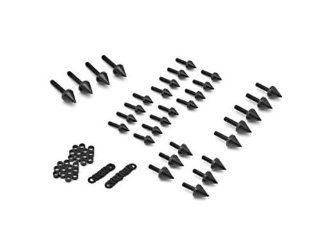 2000 2003 Suzuki GSXR 750 / 2001 2002 Suzuki GSXR 1000 High Quality Billet Aluminum Black Spike Fairing Bolts Motorcycle Frame Bolts Sports Street Bike Automotive