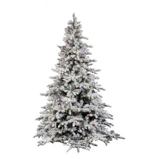 Vickerman 10 ft. Flocked Utica Fir Pre lit Italian LED Christmas Tree   Christmas Trees