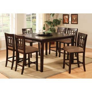 Furniture of America Jameson 7 Piece Counter Height Table Set   Dark Cherry   Dining Table Sets