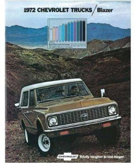 1972 Chevrolet Blazer Sales Brochure Literature Book Piece Advertisement Automotive