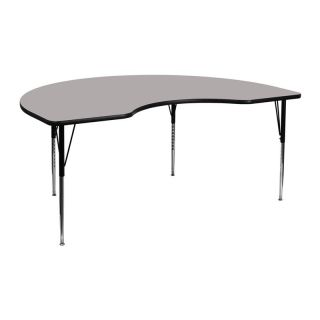 Kidney Adjustable Height Activity Table High Pressure Laminate Top   Standard Legs   Classroom Tables and Chairs