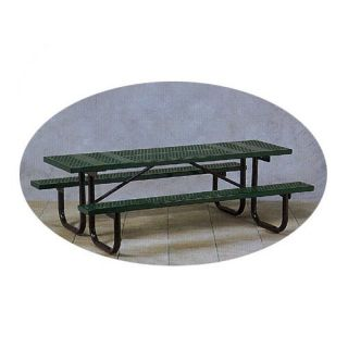 Paris Equipment Commercial Picnic Table with Painted Frame   Picnic Tables