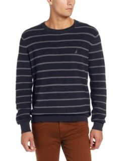 Nautica Men's Stripe Crew Neck Sweater at  Men�s Clothing store Pullover Sweaters