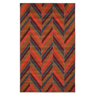 Mohawk Industries Herringbone Stripe Indoor/Outdoor Area Rug   Multi   Rugs