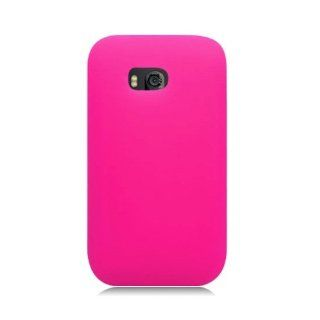 Bundle Accessory For Verizon Nokia Lumia 822   Pink Silicon Skin Case Protective Cover + Lf Stylus Pen + Lf Screen Wiper Cell Phones & Accessories