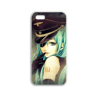 Make Apple Iphone 5/5S Anime Series hatsune miku anime Black Case of Fashion Cellphone Shell For Women Cell Phones & Accessories